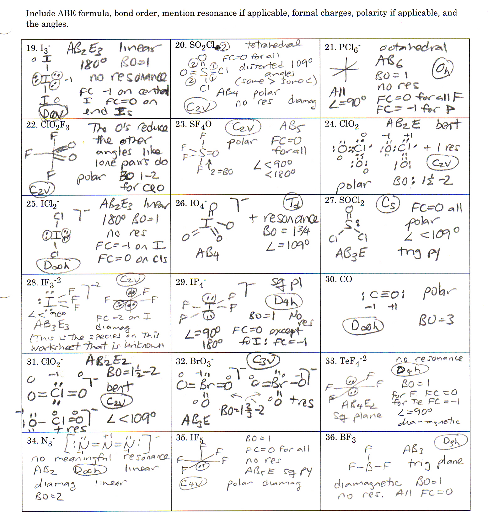 Electron dot structures worksheet 1 answers